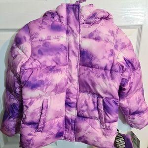 Girls CB Sports Winter Lined Jacket w/ Beenie 7/8